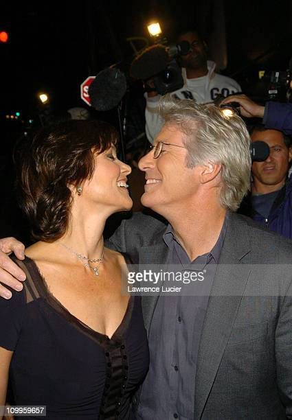 Carey Lowell and Richard Gere during Shall We Dance New York Premiere Outside Arrivals at Paris Theater in New York City New York United States