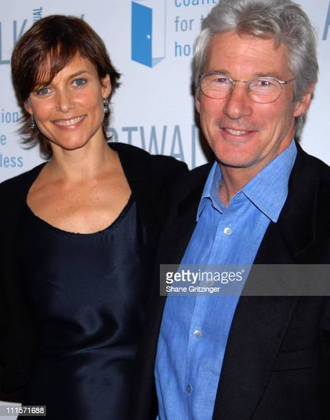 Carey Lowell and Richard Gere during The 12th Annual Artwalk New York Honoring Julian Schnabel at The Puck Building in New York City New York United...