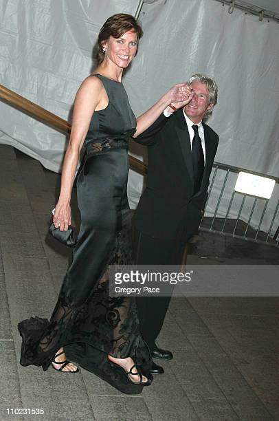 Carey Lowell and Richard Gere during The Costume Institute's Gala Celebrating Chanel Departures at The Metropolitan Museum of Art in New York City...