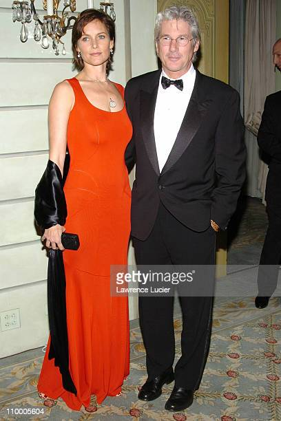 Carey Lowell and Richard Gere during The Eighth Annual Red Ball at The Pierre Hotel in New York City New York United States
