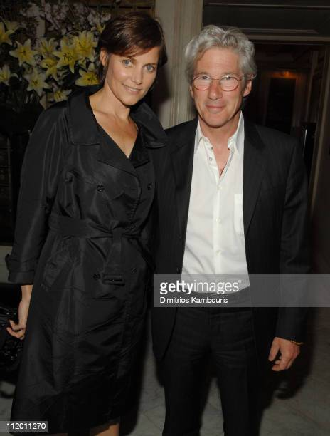 Carey Lowell and Richard Gere during The Hoax New York Premiere After Party at Metropolitan Club in New York City New York United States