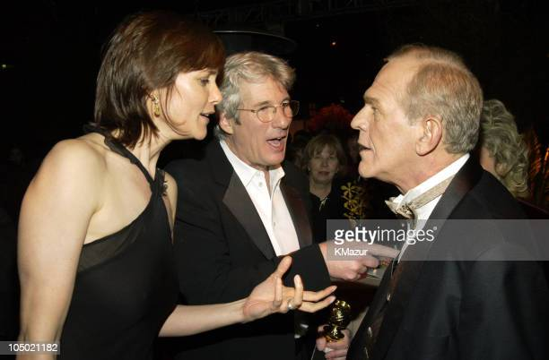 Carey Lowell Richard Gere and John Spencer during The 60th Annual Golden Globe Awards Miramax AfterParty Inside at Trader Vic's in Beverly Hills...