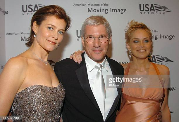 Carey Lowell Richard Gere and Sharon Stone during 19th Annual American Museum of the Moving Image Benefit Salute to Richard Gere Arrivals at Waldorf...