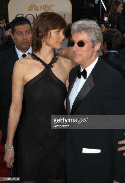 Carey Lowell Richard Gere during The 60th Annual Golden Globe Awards Arrivals at Beverly Hilton Hotel in Beverly Hills CA United States