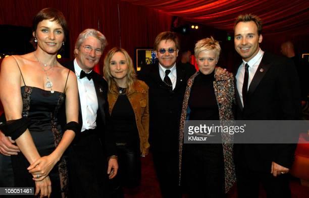 Carey Lowell Richard Gere Melissa Etheridge Sir Elton John Tammy Lynn Michaels and David Furnish