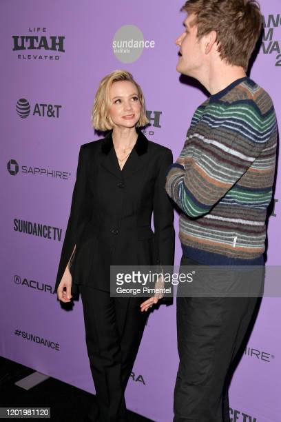 Carey Mulligan and Bo Burnham attend the 2020 Sundance Film Festival Promising Young Woman Premiere at The Marc Theatre on January 25 2020 in Park...