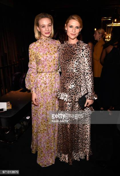Carey Mulligan and Claire Danes pose backstage during the 72nd Annual Tony Awards at Radio City Music Hall on June 10 2018 in New York City