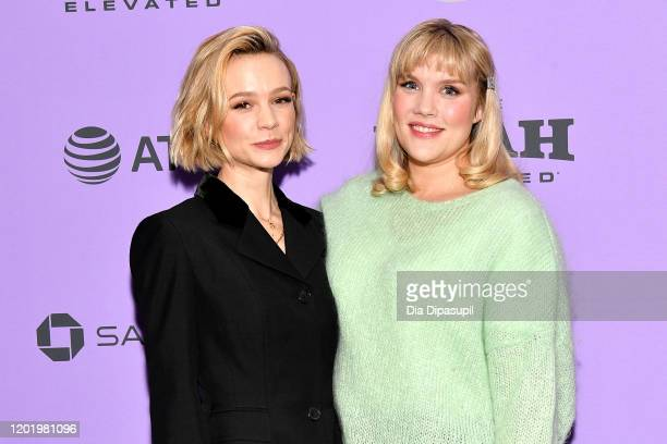 Carey Mulligan and Emerald Fennell attend the 2020 Sundance Film Festival Promising Young Woman Premiere at The Marc Theatre on January 25 2020 in...