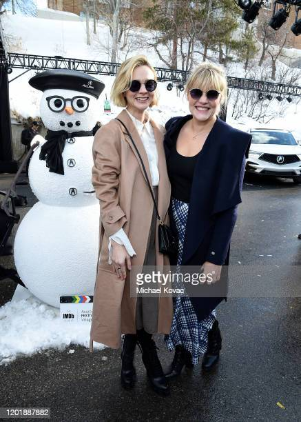 Carey Mulligan and Emerald Fennell attend the IMDb Studio at Acura Festival Village during Sundance Film Festival on January 25 2020 in Park City Utah