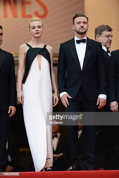 """Carey Mulligan and Justin Timberlake attend the """"Inside Llewyn Davis"""" Premiere during the 66th Annual Cannes Film Festival at Grand Theatre Lumiere..."""