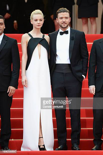 Carey Mulligan and Justin Timberlake attend the Premiere of 'Inside Llewyn Davis' during the 66th Annual Cannes Film Festival at Palais des Festivals...
