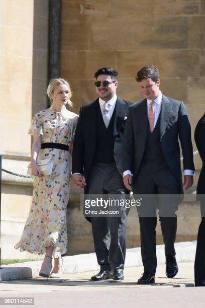 Carey Mulligan and Marcus Mumford arrive at the wedding of Prince Harry to Ms Meghan Markle at St George's Chapel Windsor Castle on May 19 2018 in...