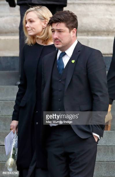 Carey Mulligan and Marcus Mumford attend the Grenfell Tower national memorial service at St Paul's Cathedral on December 14 2017 in London England...