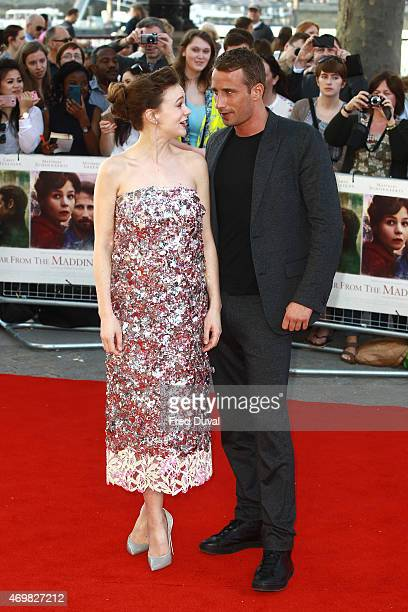 Carey Mulligan and Matthias Schoenaerts attend the world premiere of 'Far From The Madding Crowd' at BFI Southbank on April 15 2015 in London England
