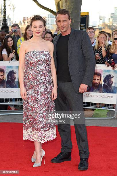 Carey Mulligan and Matthias Schoenaerts attend the World Premiere of Far From The Madding Crowd at BFI Southbank on April 15 2015 in London England