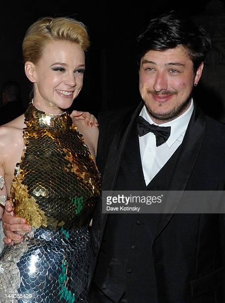 Carey Mulligan and new husband Marcus Mumford attend the after party for the Schiaparelli and Prada Impossible Conversations Costume Institute...