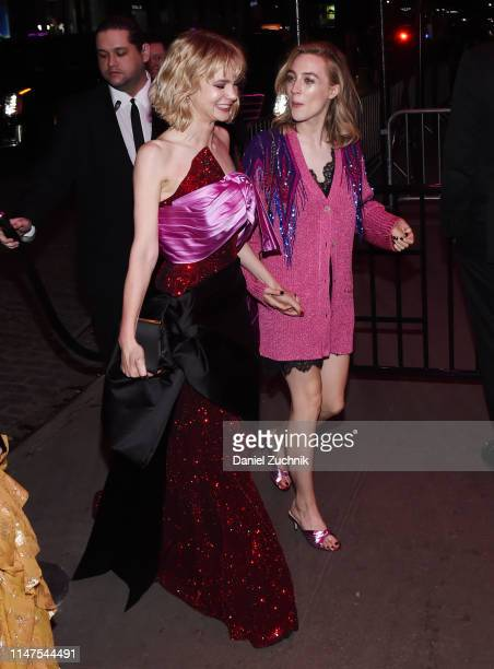 Carey Mulligan and Saoirse Ronan attend the 2019 Met Gala Boom Boom Afterparty at The Standard hotel on May 06 2019 in New York City