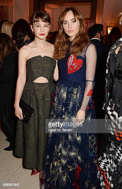 Carey Mulligan and Suki Waterhouse attend the Harper's Bazaar Women Of The Year awards 2014 at Claridge's Hotel on November 4 2014 in London England