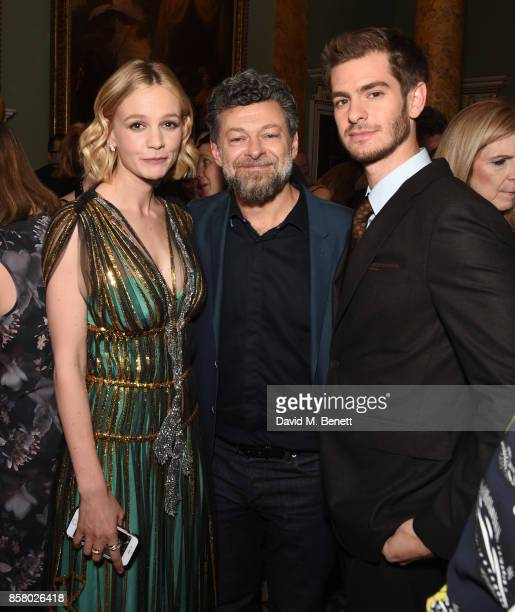 Carey Mulligan Andy Serkis and Andrew Garfield attends the Academy of Motion Picture Arts and Sciences new members party at Spencer House on October...