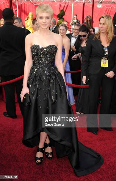 Carey Mulligan arrive at the 82nd Annual Academy Awards at the Kodak Theatre on March 7, 2010 in Hollywood, California. On March 7, 2010 in...