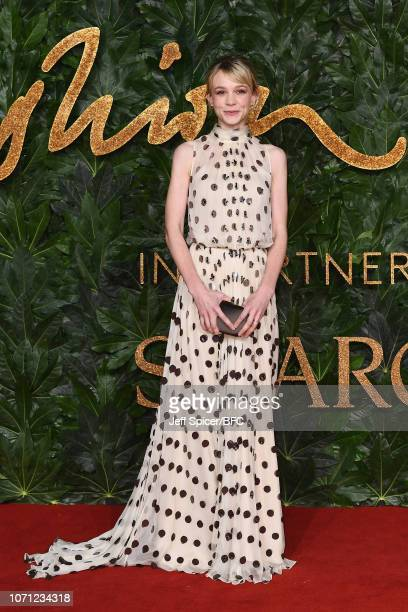 Carey Mulligan arrives at The Fashion Awards 2018 In Partnership With Swarovski at Royal Albert Hall on December 10 2018 in London England