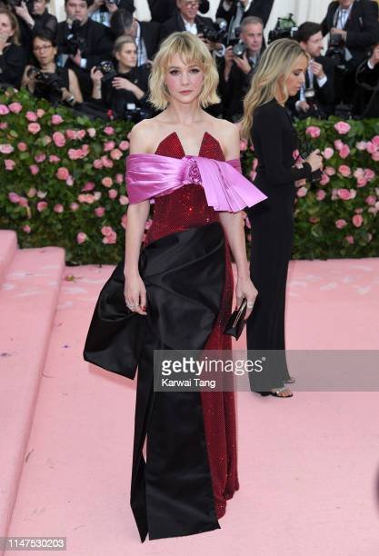Carey Mulligan arrives for the 2019 Met Gala celebrating Camp Notes on Fashion at The Metropolitan Museum of Art on May 06 2019 in New York City