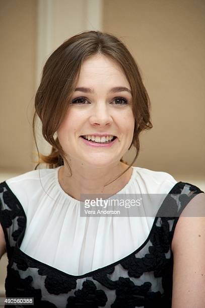 Carey Mulligan at the 'Suffragette' Press Conference at the Waldorf Astoria Hotel on October 12 2015 in New York City