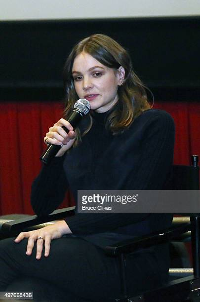 Carey Mulligan attends a QA for The Actors Fund of America's Evening with Carey Mulligan screening of Suffragette at Regal Cinemas EWalk Theatre on...