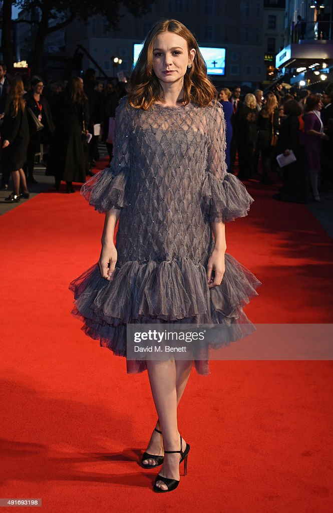Carey Mulligan attends a screening of 'Suffragette' on the opening night of the BFI London Film Festival at Odeon Leicester Square on October 7, 2015 in London, England.