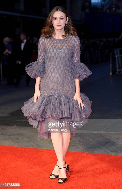 Carey Mulligan attends a screening of 'Suffragette' on the opening night of the BFI London Film Festival at Odeon Leicester Square on October 7 2015...