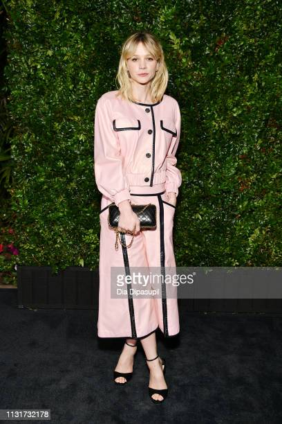 Carey Mulligan attends Chanel And Charles Finch PreOscar Awards Dinner At The Polo Lounge in Beverly Hills on February 23 2019 in Beverly Hills...