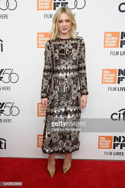 Carey Mulligan attends The 56th New York Film Festival Wildlife at Alice Tully Hall Lincoln Center on September 30 2018 in New York City