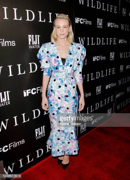 Carey Mulligan attends the Los Angeles premiere for IFC Films 'Wildlife' at ArcLight Hollywood on October 9 2018 in Hollywood California