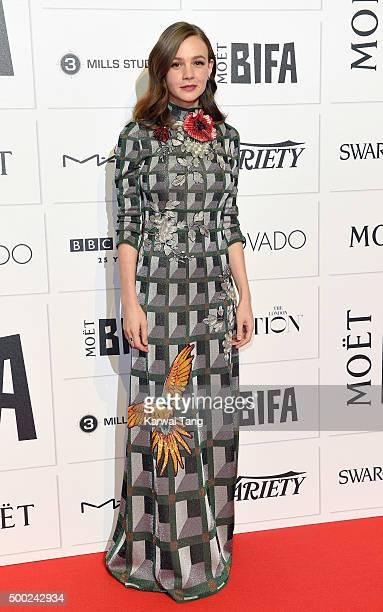 Carey Mulligan attends the Moet British Independent Film Awards at Old Billingsgate Market on December 6 2015 in London England