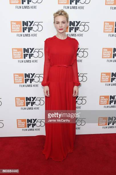 Carey Mulligan attends the 'Mudbound' premiere during the 55th New York Film Festival at Alice Tully Hall on October 12 2017 in New York City
