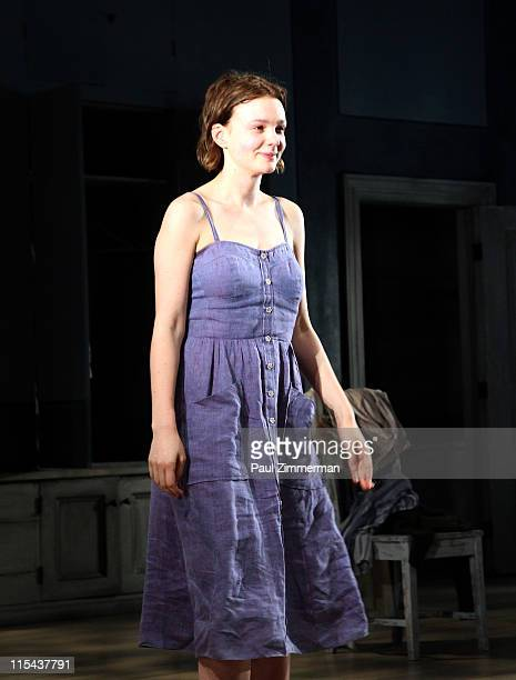 Carey Mulligan attends the opening night of 'Through A Glass Darkly' at the New York Theatre Workshop on June 6 2011 in New York City