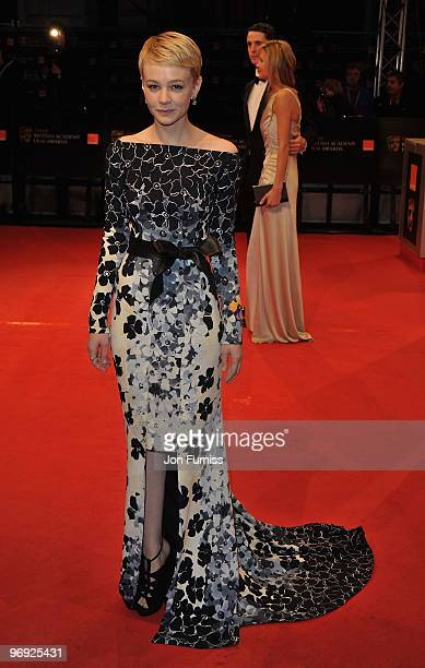 Carey Mulligan attends the Orange British Academy Film Awards 2010 at the Royal Opera House on February 21, 2010 in London, England.