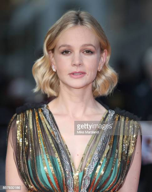 Carey Mulligan attends the Royal Bank of Canada Gala European Premiere of Mudbound during the 61st BFI London Film Festival on October 5 2017 in...
