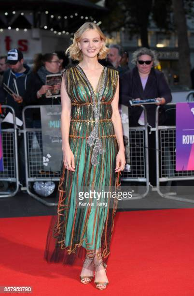 Carey Mulligan attends the Royal Bank of Canada Gala European Premiere of 'Mudbound' during the 61st BFI London Film Festival at the Odeon Leicester...