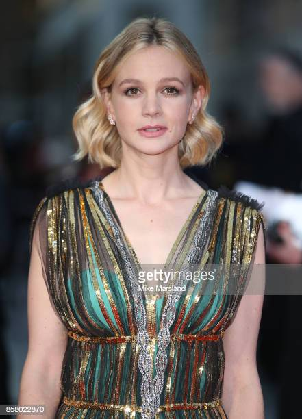 Carey Mulligan attends the Royal Bank of Canada Gala European Premiere of 'Mudbound' during the 61st BFI London Film Festival on October 5 2017 in...