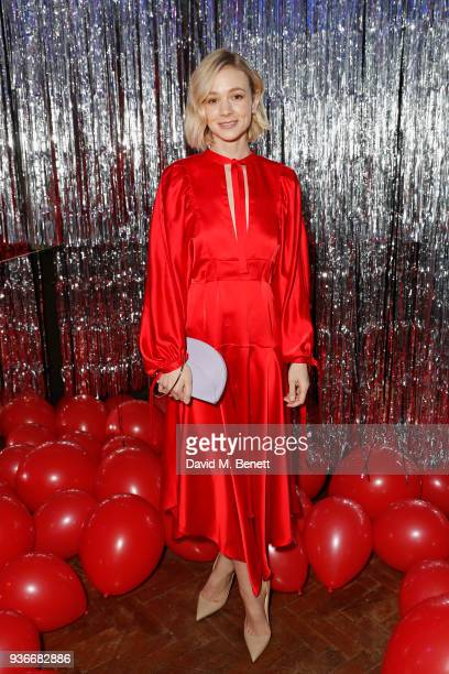 Carey Mulligan attends the SelfPortrait store opening afterparty at Central St Martins on March 22 2018 in London England
