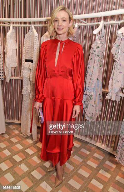 Carey Mulligan attends the SelfPortrait store opening cocktail party on March 22 2018 in London England