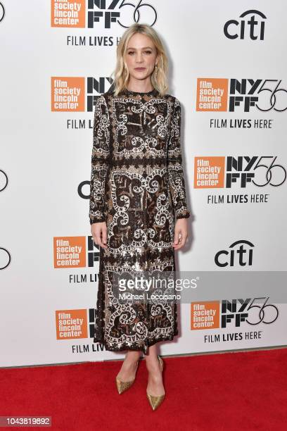 Carey Mulligan attends the Wildlife premiere during the 56th New York Film Festival at Alice Tully Hall Lincoln Center on September 30 2018 in New...