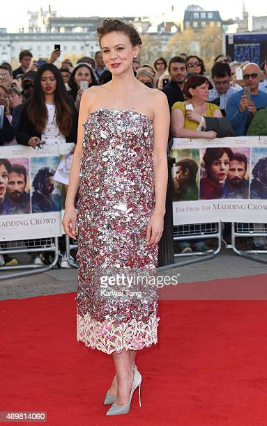 Carey Mulligan attends the World Premiere of Far From The Madding Crowd at BFI Southbank on April 15 2015 in London England