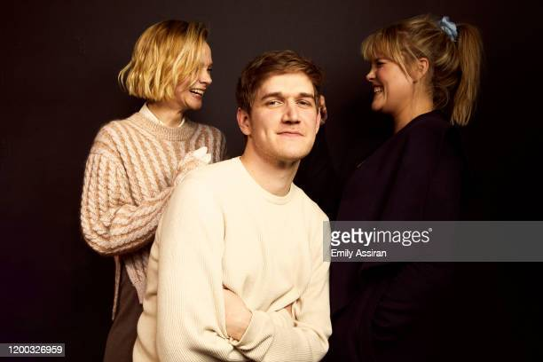 Carey Mulligan Bo Burnham and Emerald Fennell from Promising Young Woman pose for a portrait at the Pizza Hut Lounge on January 25 2020 in Park City...