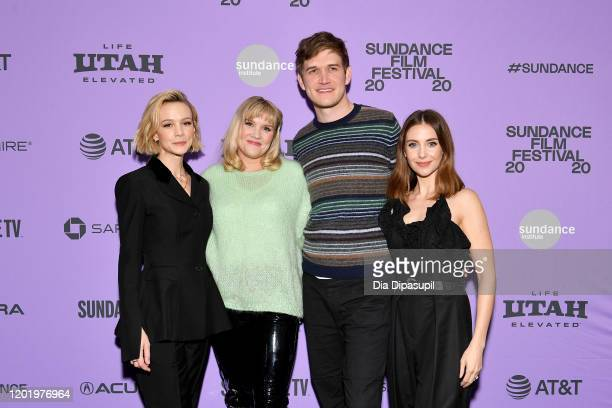 Carey Mulligan Emerald Fennell Bo Burnham and Alison Brie attend the 2020 Sundance Film Festival Promising Young Woman Premiere at The Marc Theatre...