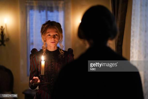 "Carey Mulligan"" Episode 1802 -- Pictured: Host Carey Mulligan during the ""Movie Trailer"" sketch on Saturday, April 10, 2021 --"
