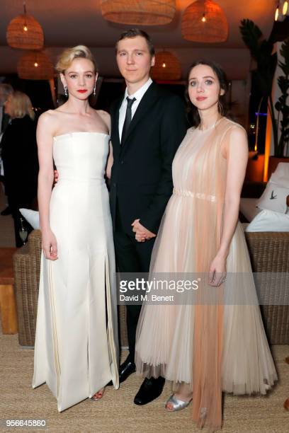 Carey Mulligan Paul Dano and Zoe Kazan at the Wildlife party presented by Grey Goose and DIRECTV at Nikki Beach Cannes 2018 on May 9 2018 in Cannes...