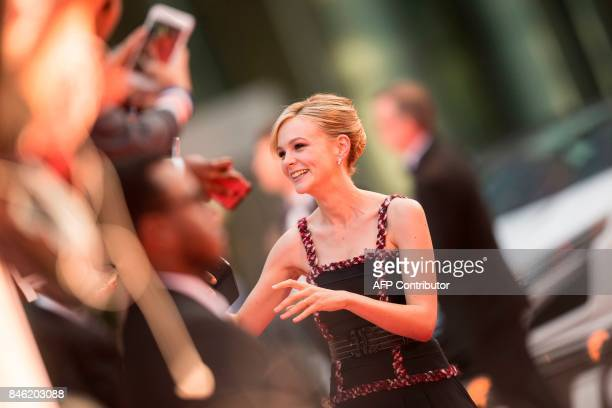 Carey Mulligan poses for photographers at the premiere of 'Mudbound' at the Toronto International Film Festival in Toronto Ontario September 12 2017...