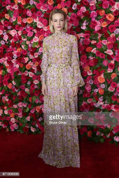 Carey Mulligan presents an award onstage during the 72nd Annual Tony Awards at Radio City Music Hall on June 10 2018 in New York City